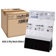 Mutt Mitt 2-Ply Pet Waste Dispenser Bags, Case of 800