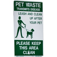 "DOGIPOT 18""H x 12""W Pet Pick-Up Aluminum Sign"