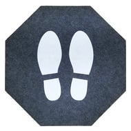 M-A Matting Stick and Stand Adhesive-Backed Hexagonal Floor Mat - Pack of 6