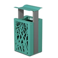 Airi Stix 33-Gal. Trash Receptacle with Side Door