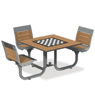 Anova Beacon Hill Recycled Plastic ADA Game Table, 3  Seats