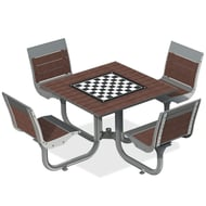 Anova Beacon Hill Recycled Plastic Game Table, 4 Seats