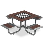 Anova Beacon Hill Recycled Plastic Game Table, 4 Flat Seats