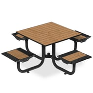 Anova Beacon Hill Recycled Plastic Table , 4 Flat Seats