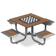 Anova Beacon Hill Thermory Game Table, 4 Flat Seats