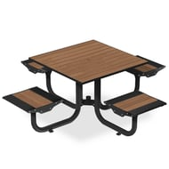 Anova Beacon Hill Thermory Table, 4 Flat Seats