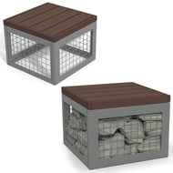 Canyon Recycled Plastic Gabion-Style Stool