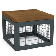 Canyon Thermory Gabion-Style Stool