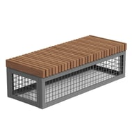 Canyon Edge Thermory Gabion-Style 5' Linear Bench
