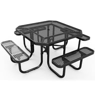 Anova Octagonal Perforated Steel Table, Portable Frame