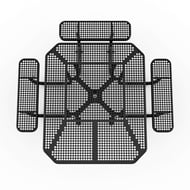 Octagonal Perforated Steel 3-Seat ADA Table, Surface Mount
