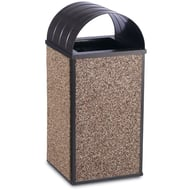 Essence 30 Gallon Trash Receptacle, Curved Top