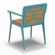 Elevation Recycled Plastic Chair with Armrest