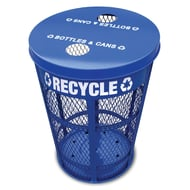 WITT EXP 48 Gallon Mesh Recycling Receptacle