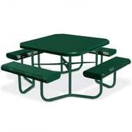 Octagonal Expanded Steel Table, Portable Frame