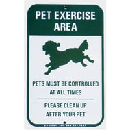 "DOGIPOT 18""H x 12""W Pet Exercise Area Aluminum Sign"