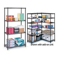 "Safco Industrial Wire Shelving, 36""W x 18""D x 72""H"
