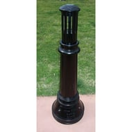 Kings River Casting Estate Aluminum Bollard with Lights