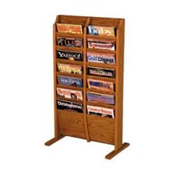 Freestanding Literature Rack with 14 Pockets
