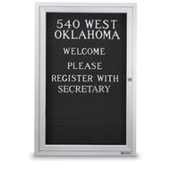 """24"""" x 18"""" Enclosed Letter Board with Single Door"""