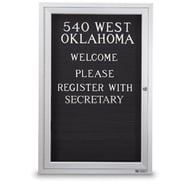 """36"""" x 24"""" Enclosed Letter Board with Single Door"""