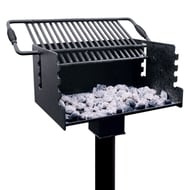 Jamestown Advanced Products Standard Park Grill with Tilt-Back Grate