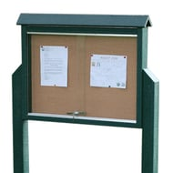 Frog Furnishings Medium One-Sided Message Center with 2 Posts