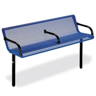 Courtyard 6' Bench with Center Armrest, Inground Mount