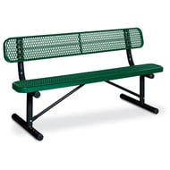 Victory 6' Expanded Steel Bench, Trad Edge, Portable Frame
