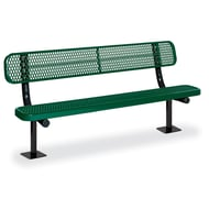 Anova Victory 6' Expanded Steel Bench, Trad Edge, Surface Mount
