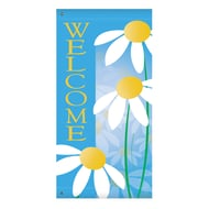 "60"" Daisies Welcome Banner"