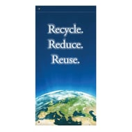 "Anova 60"" Earth, Recycle Renew Reuse Banner"