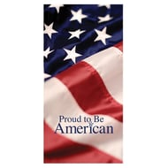 """60"""" Flag Proud To Be American Banner"""