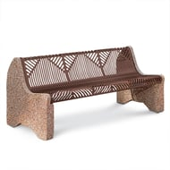 Crescent 6' Bench, Web Style Seat