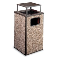 Essence 20 Gallon Trash Receptacle, Rain Bonnet Ash Top