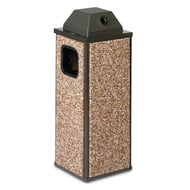 Essence 8 Gallon HD Trash Receptacle, Ash Cover Top