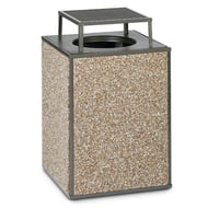 Essence 48 Gallon Trash Receptacle, Bonnet Top