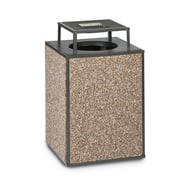 Essence 48 Gallon Trash Receptacle, Bonnet Ash Top