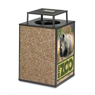 Essence 48 Gal Receptacle, Bonnet Ash Top, Stone/Graphic