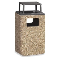 Structure 20 Gallon Trash Receptacle, Rain Bonnet Ash Top