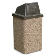 Anova Structure 30 Gallon Trash Receptacle, Push Door Top