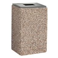 Structure 48 Gallon Trash Receptacle, Flat Open Top