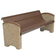 Balance 6' Perforated Steel Bench, Solid Ends