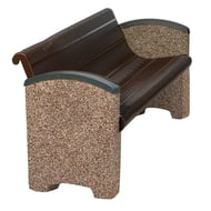 Balance 4' Slotted Steel Bench, Solid Ends