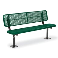 Victory 6' Exp Steel Deep Seat Bench, Trad Edge, Surf Mnt