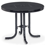 "Streetside 36"" Round Perforated Steel Café Table"