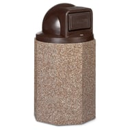 Structure 55 Gallon Trash Receptacle, Dome Top