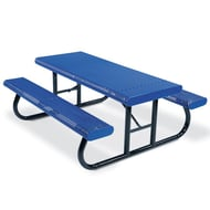 8' Rectangular Expanded Steel Table, Portable Frame