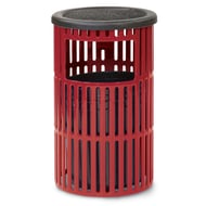 Anova Ultra 5 Gal Slotted Steel Trash Receptacle, Flat Ash Top