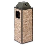 Essence 8 Gallon Trash Receptacle, Ash Cover Top